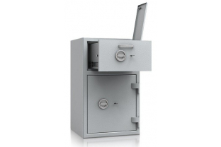AiS and ECB.S approved and EN 1143-2 Grade I Deposit Safe offering œ 10,000 cash rating. Fitted with a high secure deposit drawer ✓ Installation & Advice