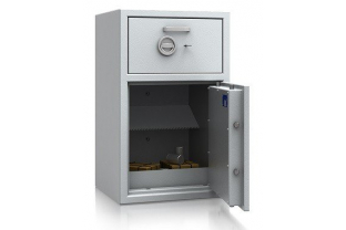 AiS and ECB.S approved and EN 1143-2 Grade II Deposit Safe offering œ 17,500 cash rating. Fitted with a high secure deposit drawer ✓ Installation & Advice